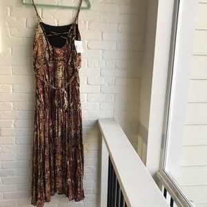 Free People Floral Midi Boho Style NEW Dress Small